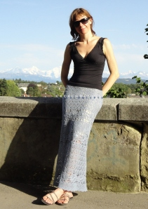 Maxi crochet skirt PATTERN for sizes Xs-XL, crochet TUTORIAL in English