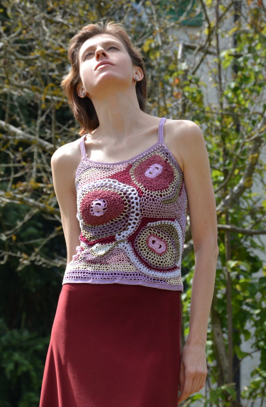 Crochet TOP Avantgarde look