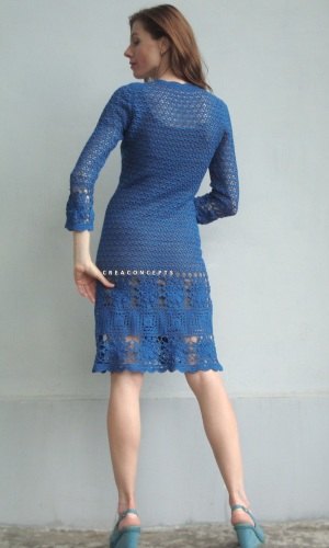 Designer dress with Bullion Crochet Stitch (pattern)