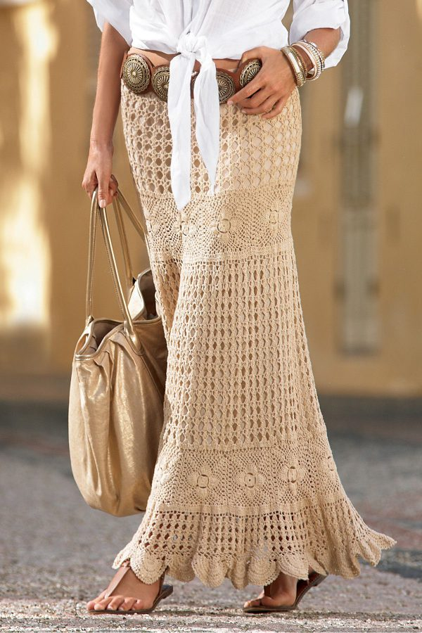 Crochet maxi skirt PATTERN (scroll down the page) – Crochet trends