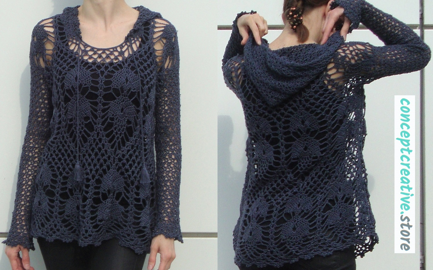 Crochet tunic pattern hoodie by free people conceptcreative store tunic atmosphere bankloansurffo Gallery