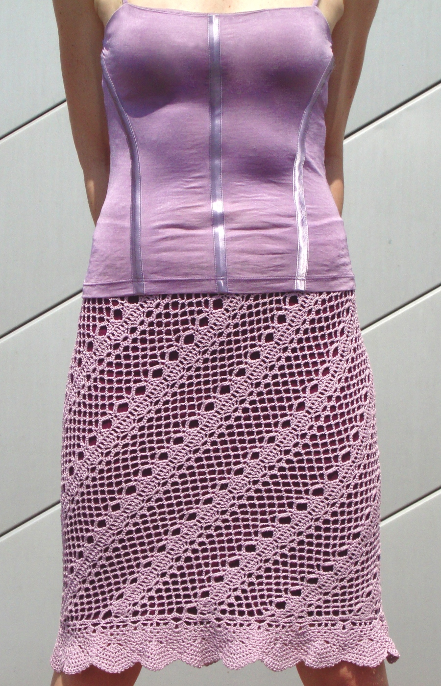 Diagonal beach crochet SKIRT for hot summer – PATTERN