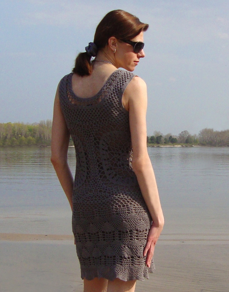 Designer crochet dress (PATTERN) (4/6)