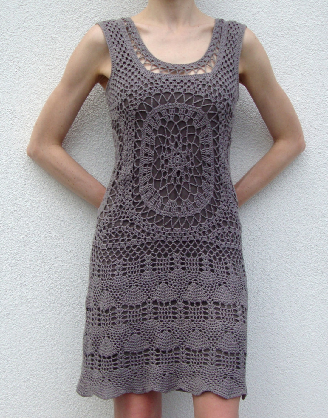 Crochet Clothing : Designer crochet dress (PATTERN) CreativeHandmadeCONCEPTs