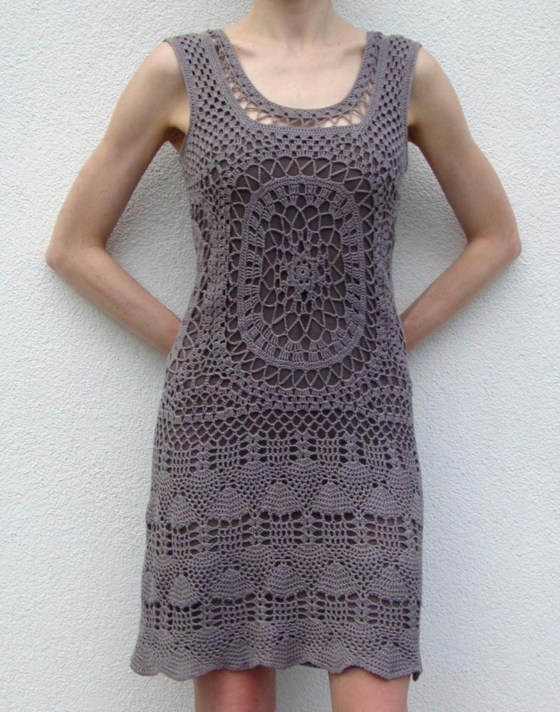 Designer crochet dress (PATTERN) (1/6)