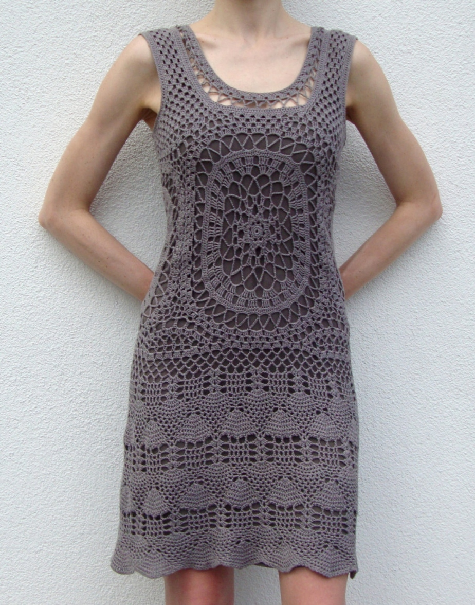 Designer crochet dress – PATTERN