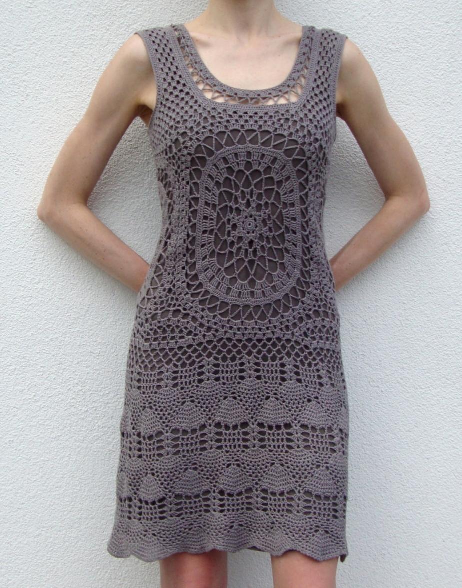 Designer crochet dress –PATTERN