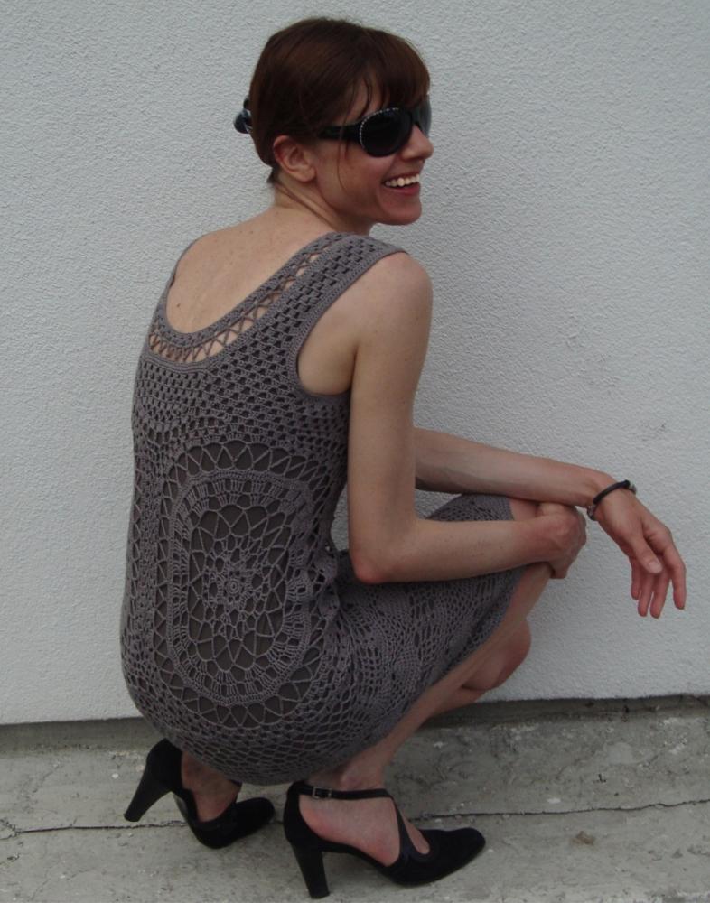 Designer crochet dress (PATTERN) (2/6)