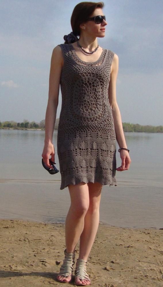 Designer crochet dress (PATTERN) (5/6)