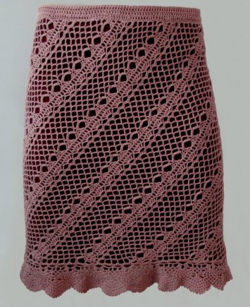 Crochet skirt pattern by CONCEPTcreative for size XS-S-M-L-XL