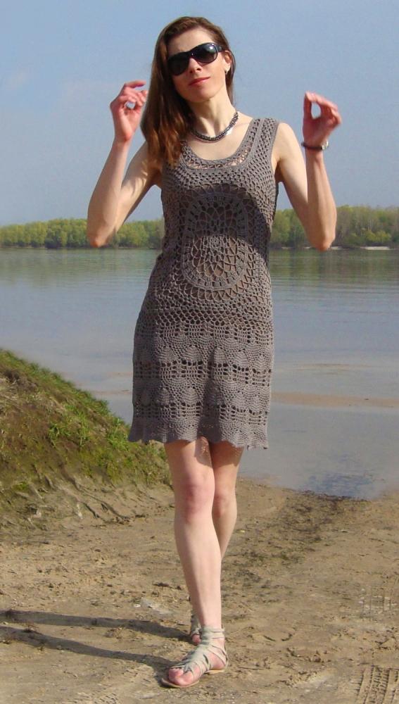 Designer crochet dress (PATTERN) (6/6)
