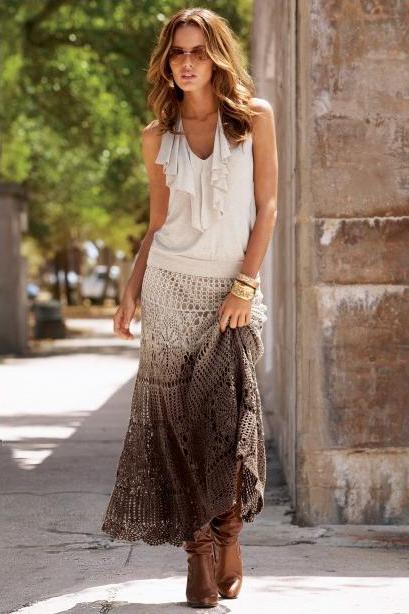 Crochet maxi skirt PATTERN (scroll down the page) - Crochet trends (1/5)