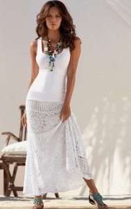 Boho Skirt (Crochet Pattern). Perfect for the holiday at the seaside, great for festivals when you wish to create an enviable look.