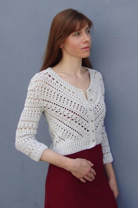 Geometry in crochet - Jacket with triangle (PATTERN) (3/6)