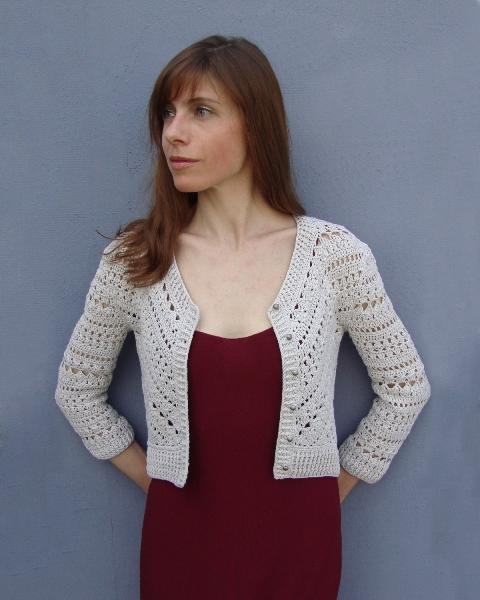 Geometry in crochet - Jacket with triangle (PATTERN) (5/6)