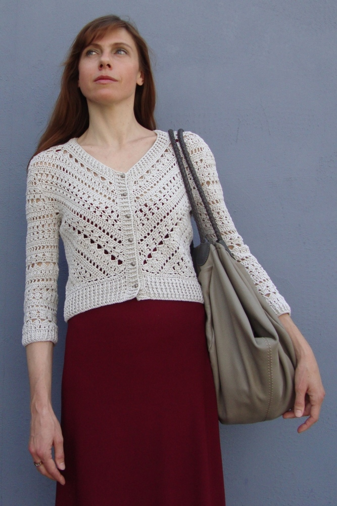 Geometry in crochet - Jacket with triangle (PATTERN) (4/6)