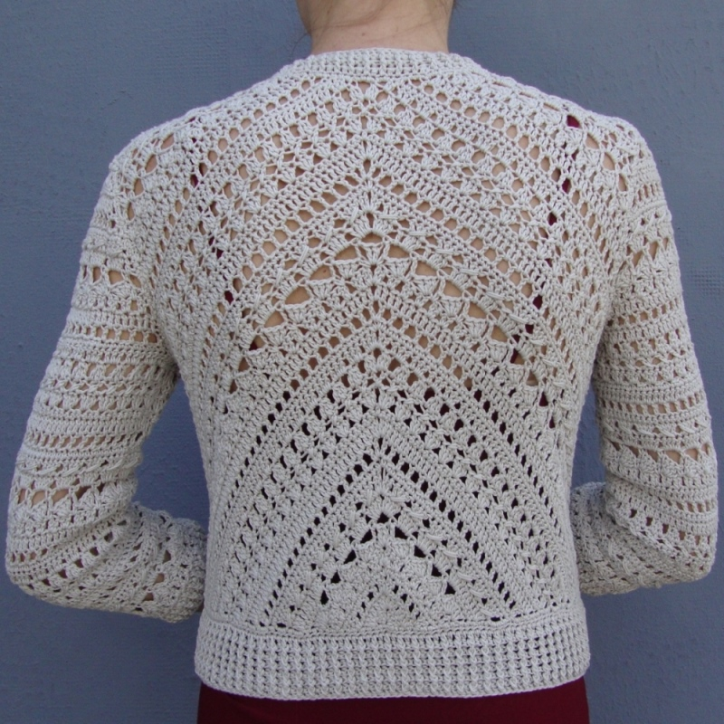 Crochet Stitch Jacket : This elegant jacket was made with a simple combination of geometric ...