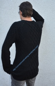 conceptcreativeblog.wordpress.com - since cable pullovers with a skull pattern became very popular lately, my son asked me to knit something cool for him