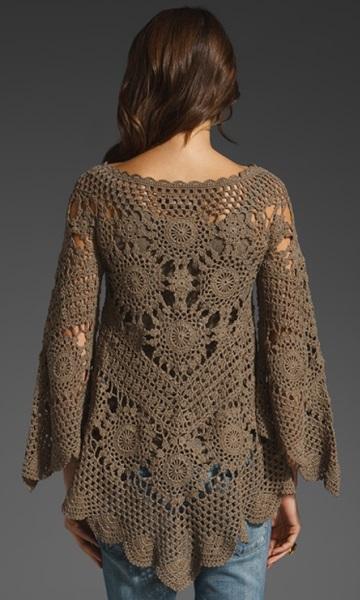 Crochet tunic PATTERN - Crochet trends (4/6)