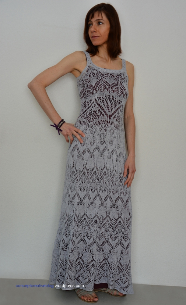 Knit summer DRESS with free chart. (3/6)