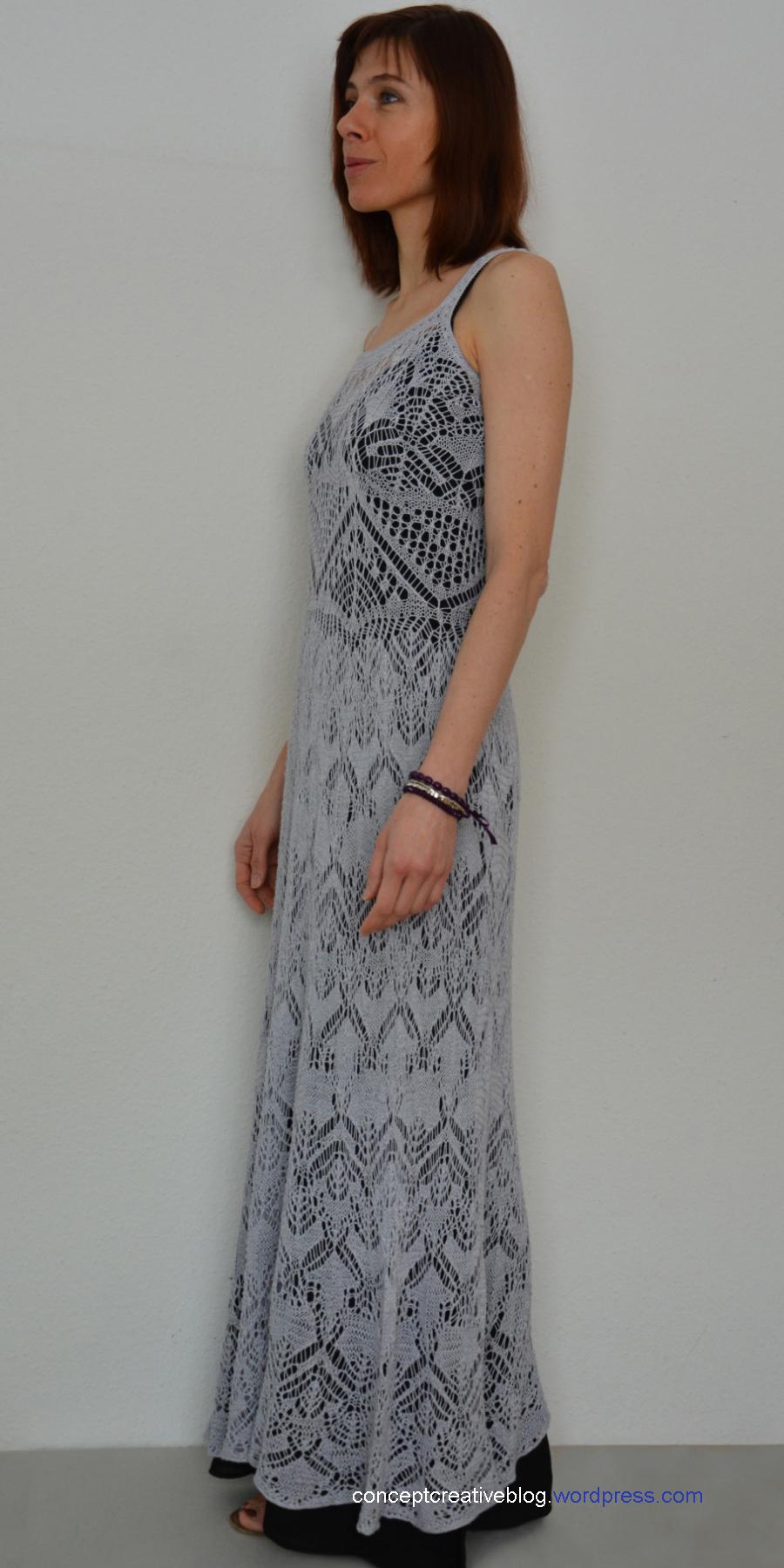 Knitting Pattern Summer Dress : Knit summer DRESS with free chart CreativeHandmadeCONCEPTs