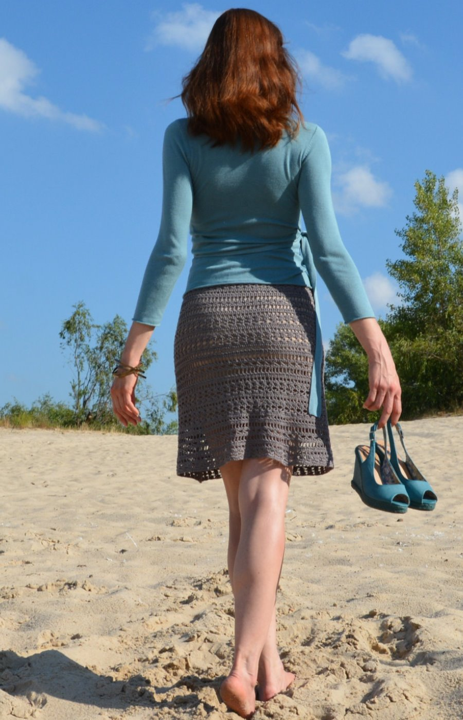 Crochet knee length skirt – PATTERN