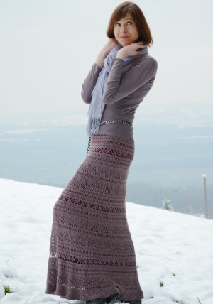 Crochet maxi skirt PATTERN for sizes xs-XL, detailed TUTORIAL for every row with charts and photos