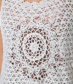 Designer crochet top PATTERN for sizes S-3XL detailed TUTORIAL for every row with HQ charts 19 arc3