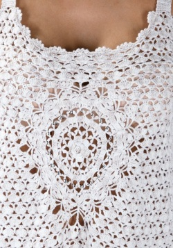 Designer crochet top PATTERN for sizes S-3XL detailed TUTORIAL for every row with HQ charts 21 arc3