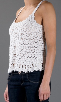 Designer crochet top PATTERN for sizes S-3XL detailed TUTORIAL for every row with HQ charts 21 arc4