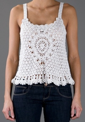 Designer crochet top PATTERN for sizes S-3XL detailed TUTORIAL for every row with HQ charts 21 arc5