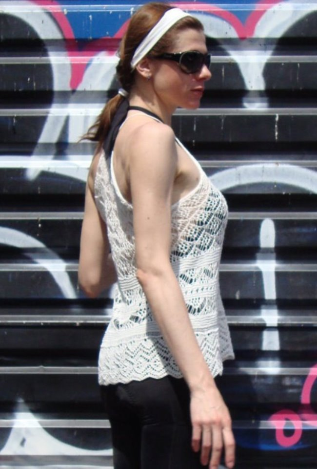Knit TOP for hot summer. Detailed pattern for Shetland lace top. (5/6)