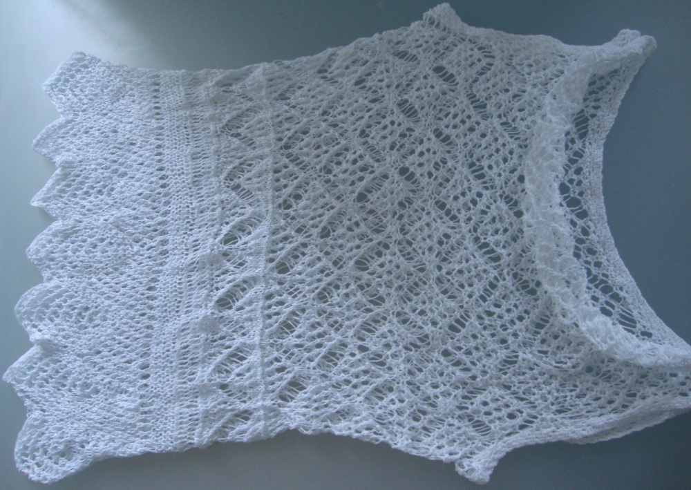 Knit TOP for hot summer. Detailed pattern for Shetland lace top. (2/6)