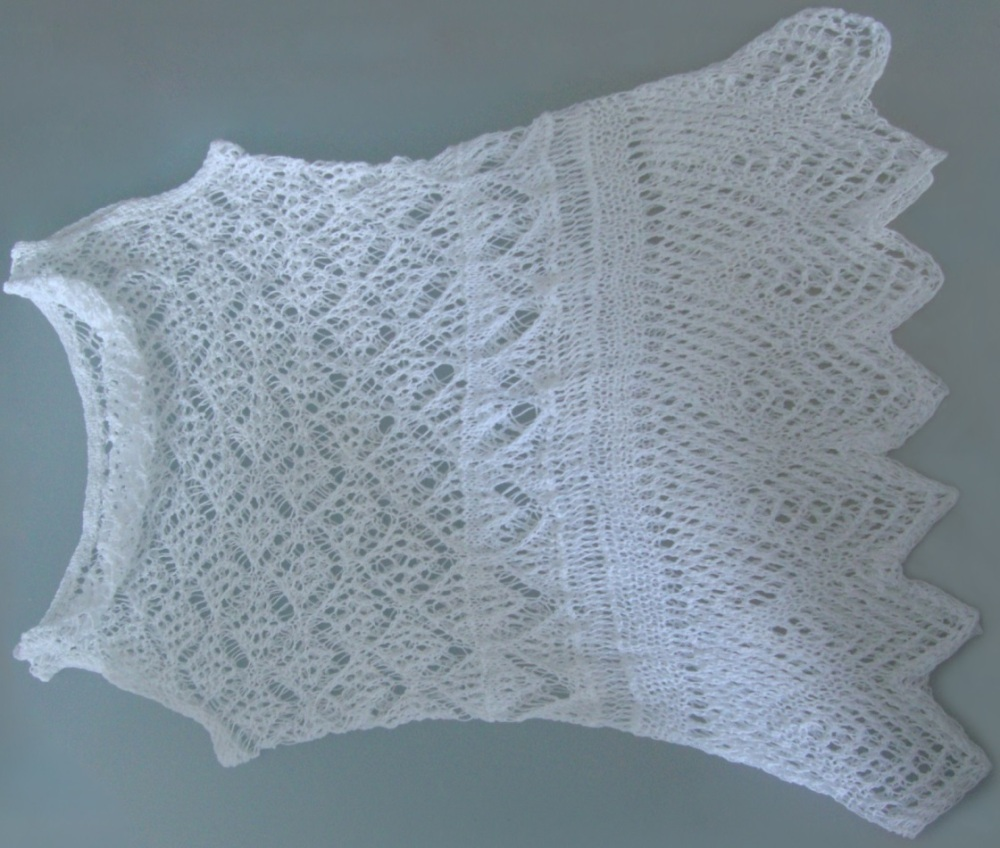 Knit TOP for hot summer. Detailed pattern for Shetland lace top. (1/6)