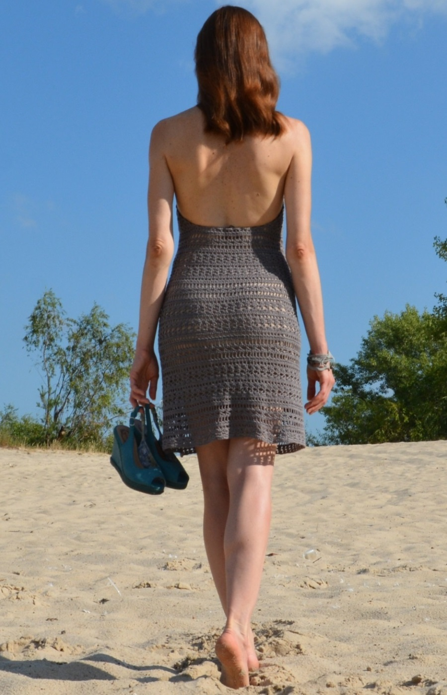 Beach open back dress – PATTERN