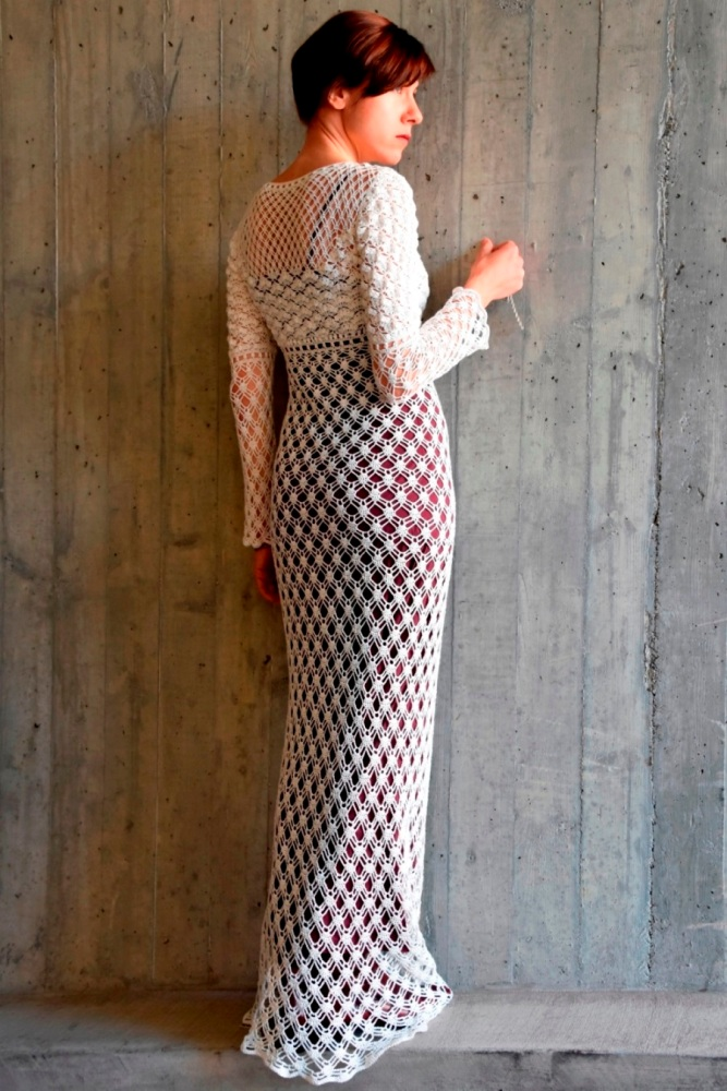 Maxi crochet wedding dress (PATTERN) (3/6)