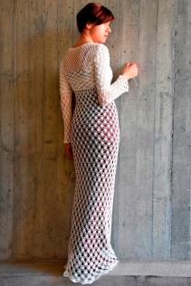 Detailed pattern for wedding dress