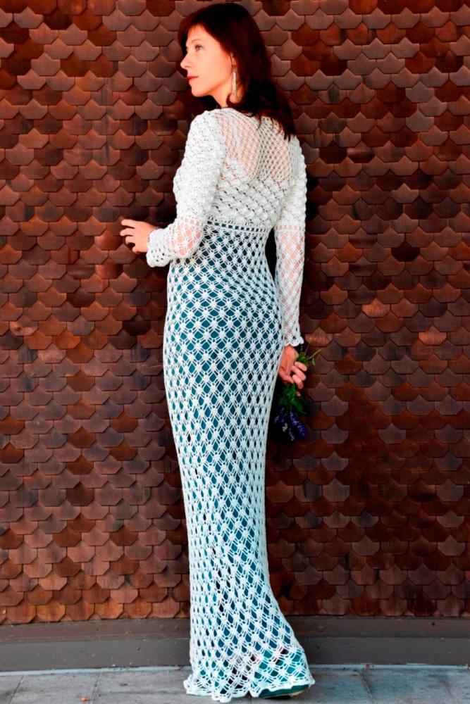 Maxi crochet wedding dress (PATTERN) (4/6)