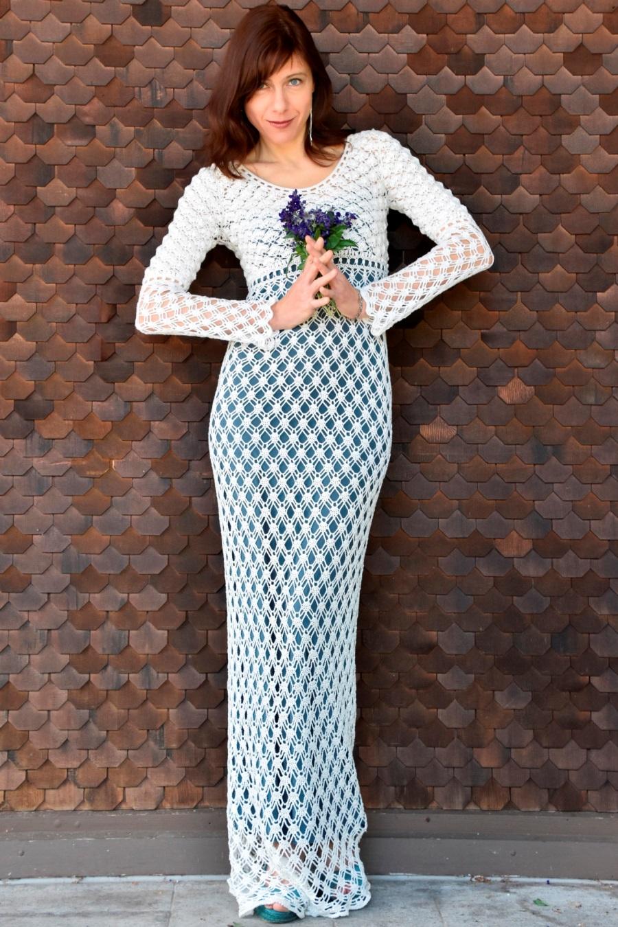 Maxi crochet wedding dress –PATTERN