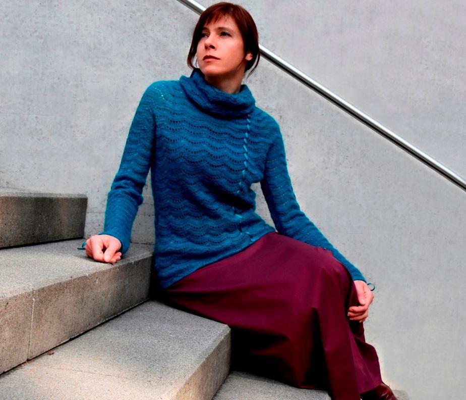 Mohair crochet pullover –PATTERN