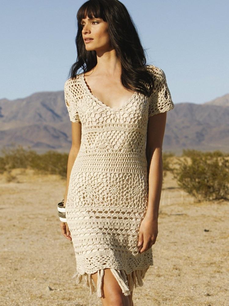 Crochet dress PATTERN - boho style (1/4)