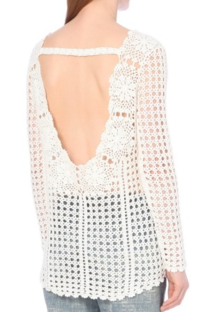 Free People open back - crochet tunic pattern