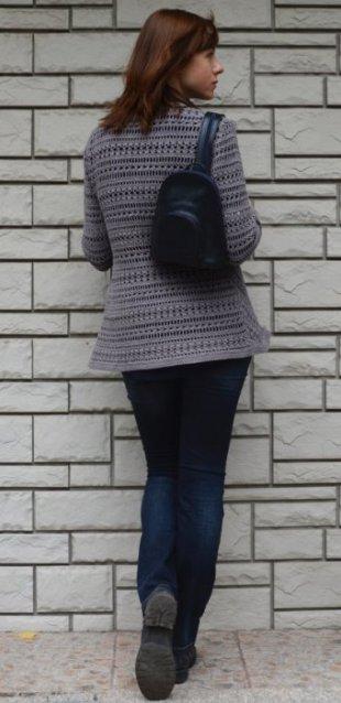 Crochet jacket pattern for sizes S-2XL