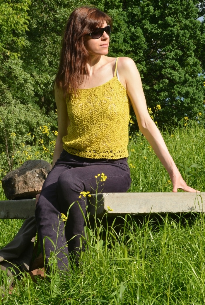 Knit summer TOP with free chart  – scroll down the page