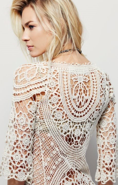 Boho crochet tunic pattern free people dt1010fo