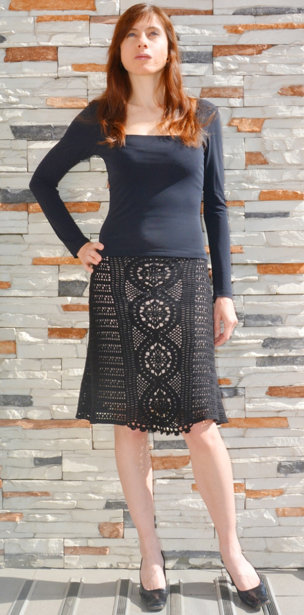 Black skirt/top Obsidian – PATTERN
