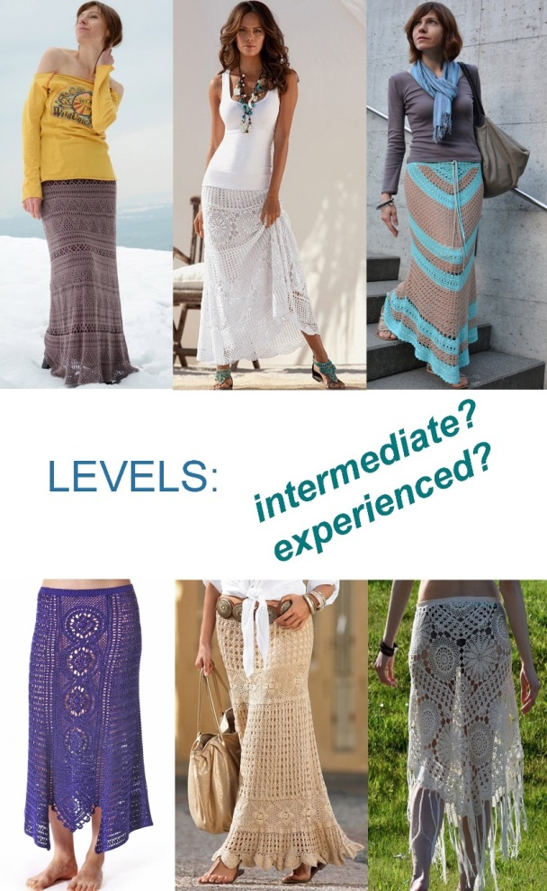 Defining LEVELS if you are about to crochet garments
