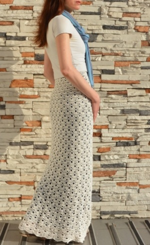 Easy crochet skirt PATTERN for sizes S-4XL, detailed TUTORIAL for every row + charts