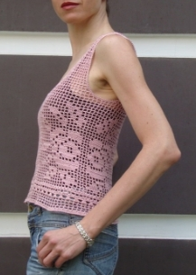 Crochet filet top PATTERN