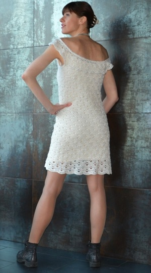 Off shoulder crochet dress PATTERN for sizes XS-3XL